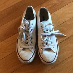 White low top Converse All Star sneakers